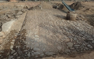 Vanha tie Turun torin arkeologisilla kaivauksilla