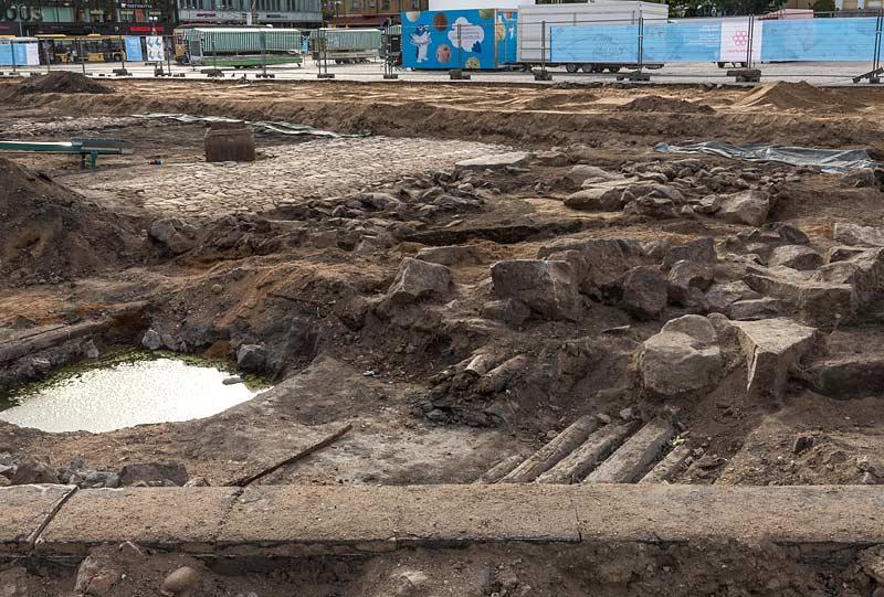 Turku arkeologiset kaivaukset kauppatori 2018